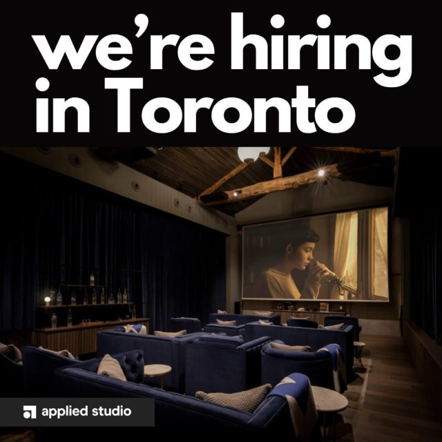 We're looking for a project architect to join our team, based in Toronto, Canada. . Follow the link in our bio for more info on how to apply! . @dezeenjobs #werehiring #projectarchitect #jobad #joinourteam #architecture #design #interiors #interiordesign #restaurantdesign #hospitalitydesign #toronto #canadianarchitecture #canadianarchitect #torontodesigner #idstoronto #appliedstudio
