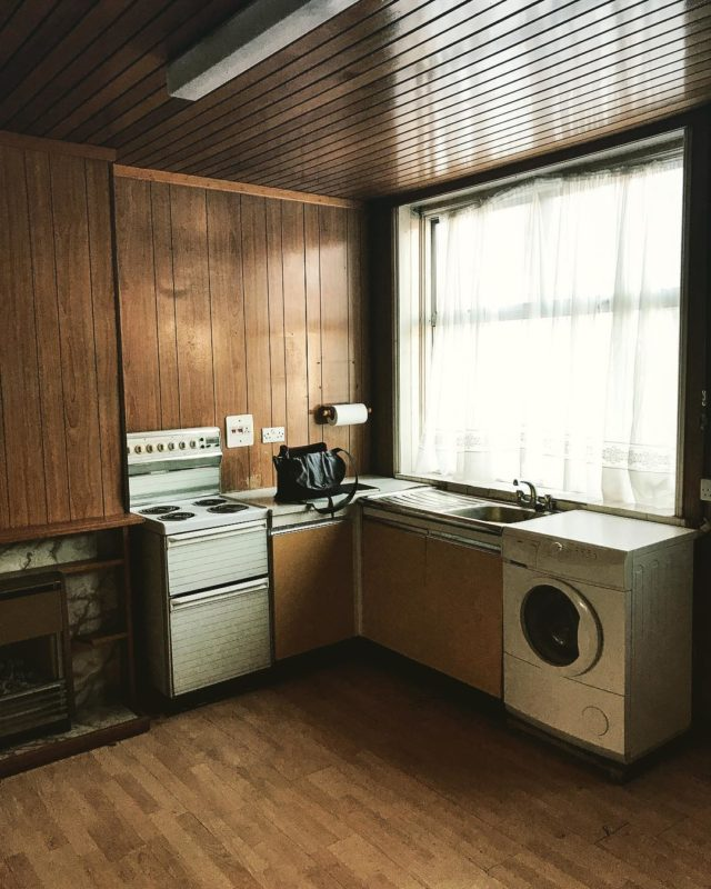 Old 70s kitchen. Not sure if great or awful? #refurb #comingsoon #architecture #interiordesign #london #70s