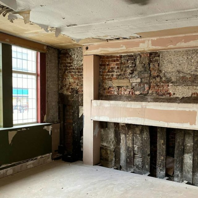 New restaurant project in Leeds - converting an empty listed building. Historic structure, old timbers and lathe and plaster construction. #appliedstudio #designled