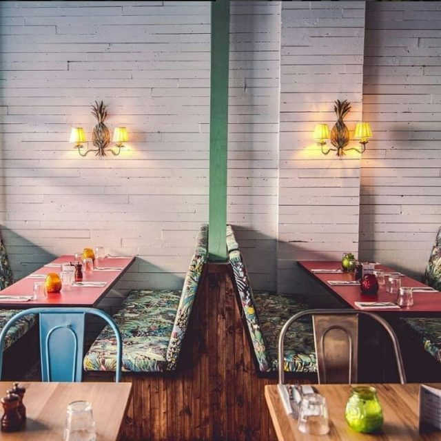 Rum Kitchen I London .⠀⠀⠀⠀⠀⠀⠀⠀⠀ We refurbished the original Notting Hill Rum Kitchen using a unique mix of a rustic Jamaican beach shack style with a glamorous 1960s flourish. .⠀⠀⠀⠀⠀⠀⠀⠀⠀ #appliedstudio #designled